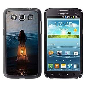 Paccase / SLIM PC / Aliminium Casa Carcasa Funda Case Cover - Girl Woman Orange Light Meaning - Samsung Galaxy Win I8550 I8552 Grand Quattro