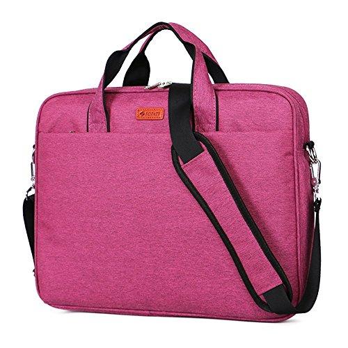Laptop Bag for 14 Inch Laptop Computer Awland Multi-functional Nylon Waterproof Macbook Air / Pro Carry Bag Briefcase Shoulder Bag Laptop Messenger Bag Notebook Sleeve Case Handbag - Purple (14' Notebook Handbag)