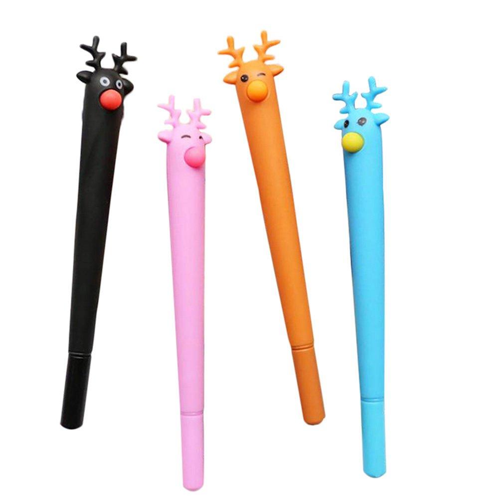 Wicemoon 4PCS Stylos /à Encre Gel Fournitures Scolaires Papeterie Stylo Roller Cadeau Stylo Funny Papeterie Stylos pour /écrire