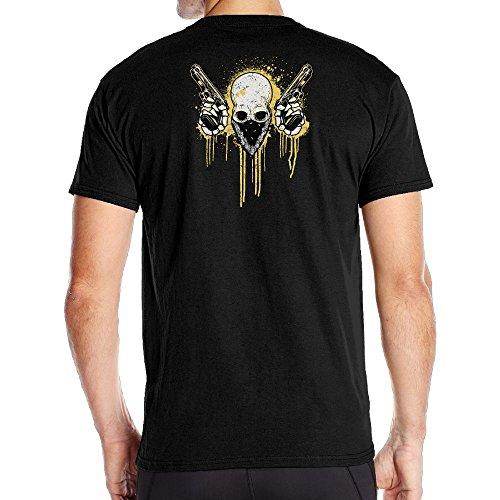 Aoaoozu8 Men Skeleton Gun Classic T-Shirt Black Size - Irvine Target