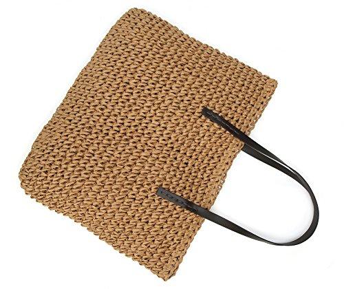 Purse Beach Bags Molodo Crossbody Handbags Tote Handle coffee Top Light Straw Shoulder Summer Satchels qvwqSA
