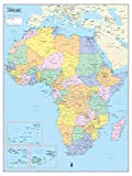Cool Owl Maps Africa Continent Wall Map Poster - Rolled Laminated (24''x32'')