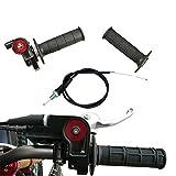 Annpee 7/8 22mm Twist Throttle Grips Cable For CRF KLX TTR 110 125 150 200 250 cc Dirt Pit Bike