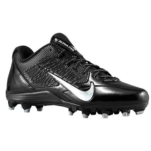 Mens Nike Alpha Pro Td Football Cleats  Black Metallic Silver  Size 11 5