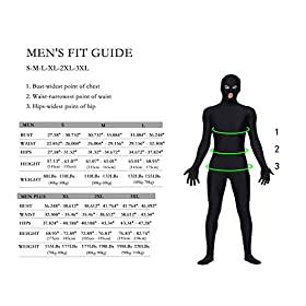 - 51wnOAGYPdL - Life In Color Lycra Spandex Bodysuit Full Bodysuit Unitard Men Zentai Suit Open Eyes and Mouth