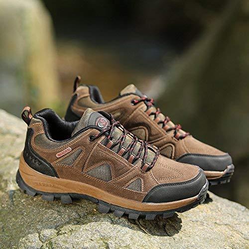Oudan SportsOutdoor Schuhe niedrig, um Männern und Frauen Frühling und Herbst Wanderschuhe Anti-Rutsch-Verschleiß zu helfen (Farbe   Khaki, Größe   38)