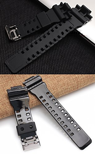 19b9277404f9 Span Realm Water Proof Silicon Soft Watch Strap Natural Resin Replacement  Watch Band Strap for Casio