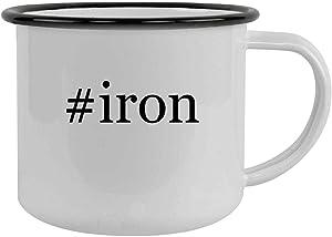#iron - 12oz Hashtag Camping Mug Stainless Steel, Black