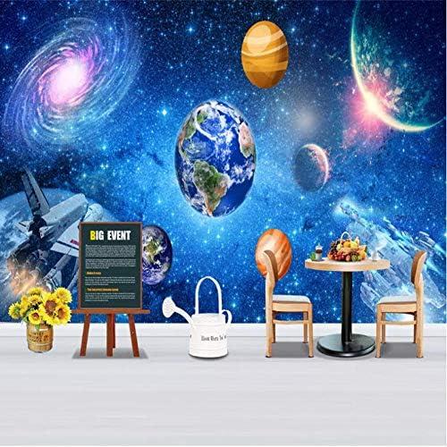 Xxzzdn 3D大壁画ユニバース星空銀河写真壁紙キッズルーム寝室の壁家の装飾フレスコ壁布3D-280X200Cm