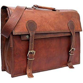Amazon.com: PhoenixCraft Men's Leather Briefcase Messenger Bag ...