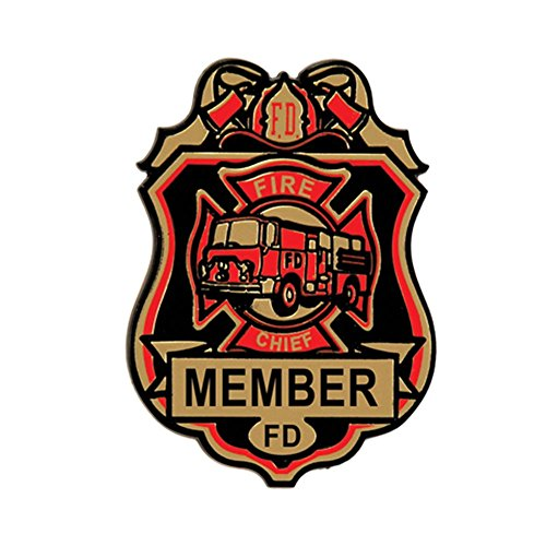 Beistle 66785 4-Pack Fire Chief Badges, -