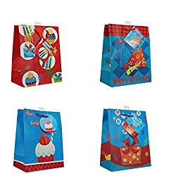 Happy Birthday Gift Bags, with glitter, 12 Piece Pack, Medium by Paper Impression