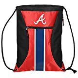 MLB Atlanta Bravesbig Stripe Zipper Drawstring Backpack, Atlanta Braves, One Size