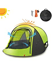 Sunnychic Pop Up Tent Camping Tent, Automatic Instant Setup Pop Up Instant Tent with Sun Shelter UV Protection, Portable 2-3 Person Family Camping Instant Tent Waterproof for Outdoor Hiking Beach
