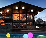 Siminda E27 Color E27 Ball chandelier Rechargeable and Cordless Decorative Light with 16 RGB Colors and Remote Control 1 Light 19.6 Inch