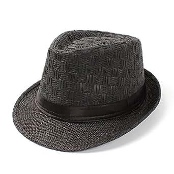 XinLin Du Straw Women Men Summer Travel Boater Beach Fedora sun hat For Gentleman Elegant Lady (Color : 4, Size : 58cm)