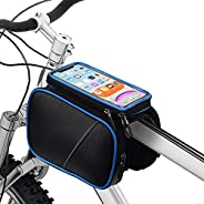 Bike Phone Frame Bag,STANPER Bike Saddle Bag,Bicycle Accessories Waterproof Top Tube Bike Phone Case with Sens