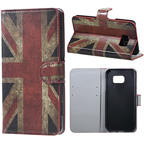 Yakamoz British Flag Union Jack Flip Leather Wallet Stand Case Cover for Samsung Galaxy S7 Edge G935F with Free Screen Protector & Stylus Pen Sales