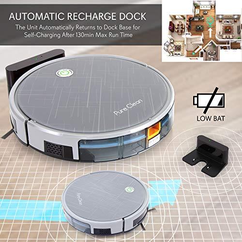 Smart Robot Vacuum Gyroscope App Control and Alexa Compatible Dock, 3 Filter Hardwood and -