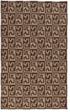 Vibrant Abstract Pattern Area Rug, Featuring Artful Tribal Reversible Design, Contemporary Stylish Home Decor, Rectangle Indoor Living Room Dining Bedroom Hallway Carpet, Brown, Teal, Size 5′ x 8′
