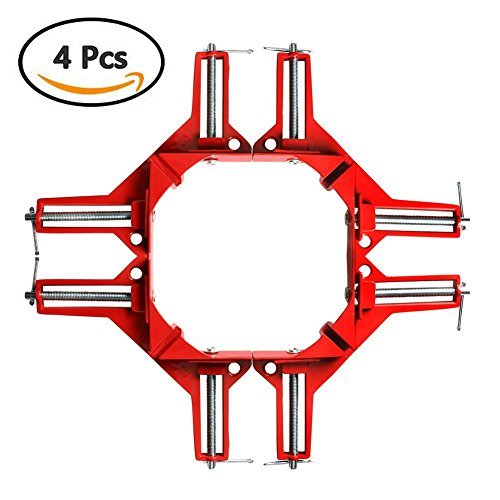 Clamp Corner Fixed - A friend Friend (Yuka) Corner Clamp Angle Clamp Fixed Vise Right Angle Ruler DIY Tool Right Angle Clamp Woodworking Ruler For Woodworking ? Fixing ? Welding ? Adhesive ? Cutting Fixture 4 pieces