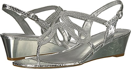 Adrianna Papell Women's Cannes Silver Metallic Rope 7.5 M US