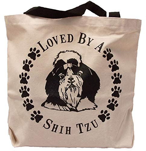 Loved By A Shih Tzu Dog Tote Bag New MADE IN USA ()