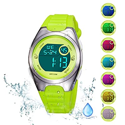 Kids Digital Sport Watch Outdoor Waterproof Watch with Alarm for Child Boy Girls Gift LED Kids Watch from Misskt