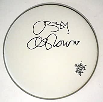 "Ozzy Osbourne REAL hand SIGNED 12"" Drumhead JSA Full LOA Black Sabbath"