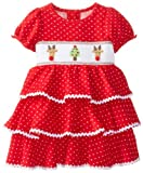 Mud Pie Baby Girls' Corduroy Smocked Tiered Dress