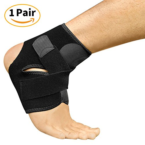 Best Plantar Fasciitis Compression for Men & Women - Heel Arch Support/Ankle Sock - (1 Pair) Breathable Activated Bamboo Fiber Ankle Support/Foot Sleeve, One Size, Black