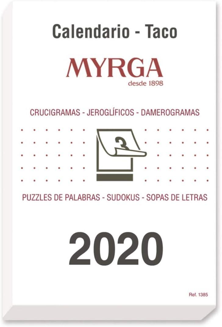 Taco calendario myrga 2020 mural 1385 pared: Amazon.es: Electrónica