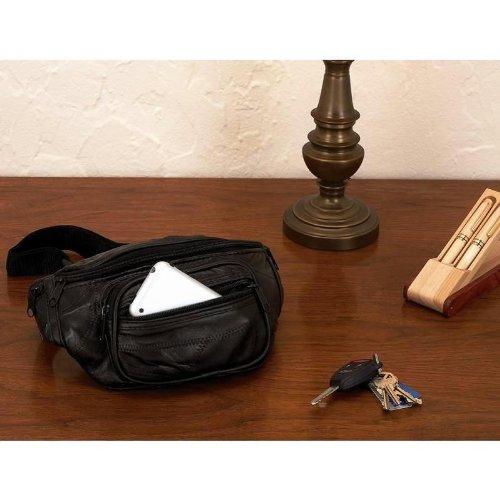 Maxam Italian Stone Design Genuine Lambskin Leather Belt Bag, Outdoor Stuffs