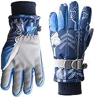 Tofern Kids Winter Gloves Windproof Insulation Warm Cute Snow Mittens Water Repellent Ski Skateboard for Boys