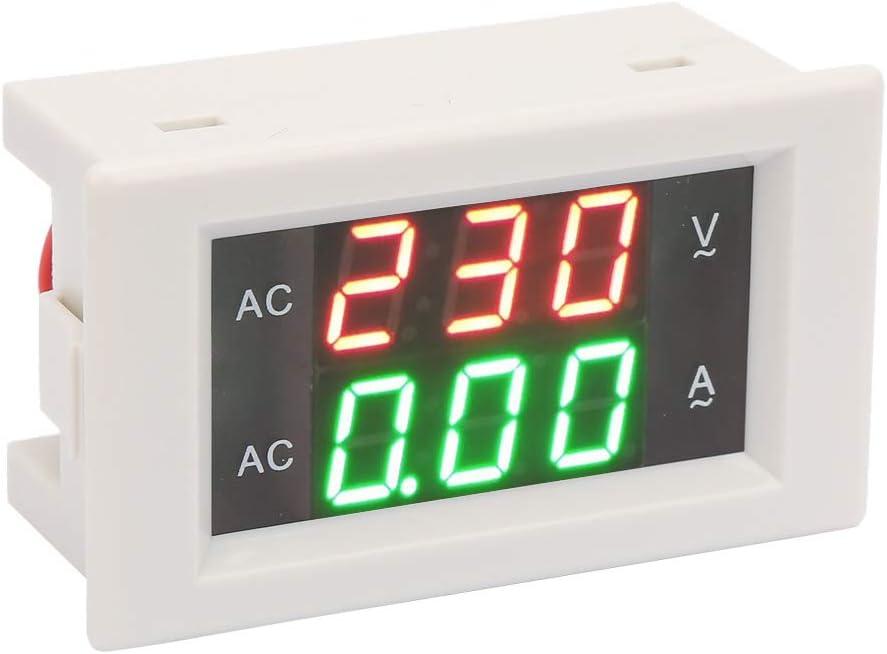 Oumefar Dual Digital Ampere Voltmeter Power Panel Meter for Electrician with LCD Display
