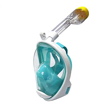 Máscara De Snorkel De Cara Completa Cámara De Deportes Compatible Anti-Niebla No Tóxico Adultos