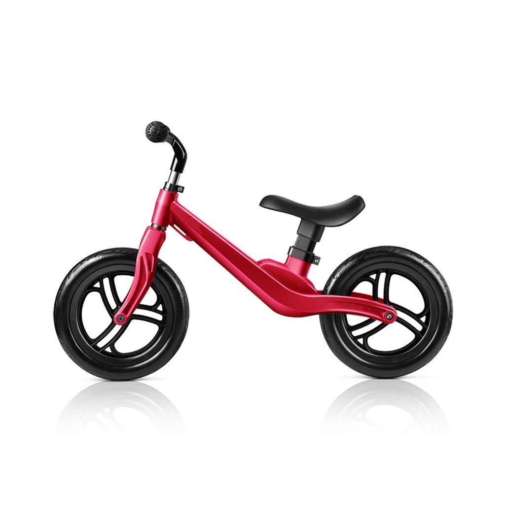 Chenglian Laufräder 12 Laufrad Für Kinder Laufrad Ohne Pedal Leichtes Laufrad Mit ZWeißRädern Und Verstellbarem Sitz Für 2-5 Jahre (Farbe   Rot) Rot