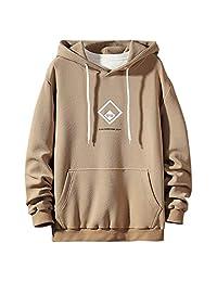 Minikoad_Men Coat Men Fashion Printed Solid T-Shirt, Male Long Sleeve Blouse Tunic Tops with Pocket Hoodies Sweatshirt