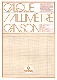 Canson 17136 Transparent Graph Paper Pad A3 70 g/m? 50 Sheets Orange