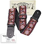 Walker & Williams H-22 Red Hendrix Woven 60's Style Hootenanny Hippie Guitar Strap