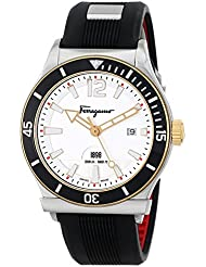 Salvatore Ferragamo Mens FF3110014 FERRAGAMO 1898 SPORT Analog DisplaySwiss Quartz Black Watch