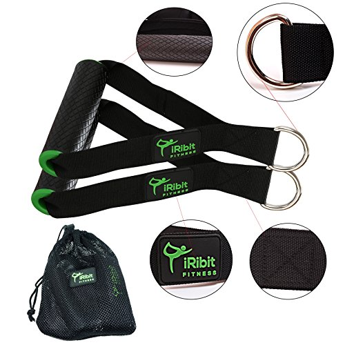 iRibit Fitness Professional Exercise Handles for Cable Machines and Resistance Bands (Green) Review