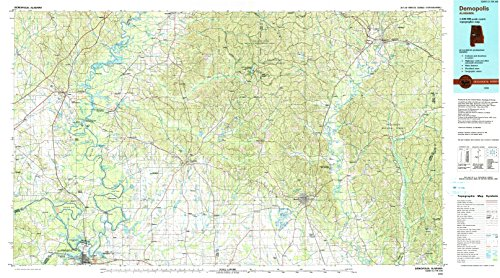 Demopolis AL topo map, 1:100000 scale, 30 X 60 Minute, Historical, 1990, updated 1990, 24 x 43.1 IN - Paper