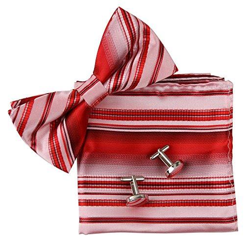 ripe Bowtie Handmade Job Working Day Lawyers Silk Pre-tied Bowtie Cufflink Hanky Christmas Gifts ()