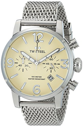 TW Steel Men's 'Maverick' Quartz Stainless Casual Watch, Color:Silver-Toned (Model: MB3)