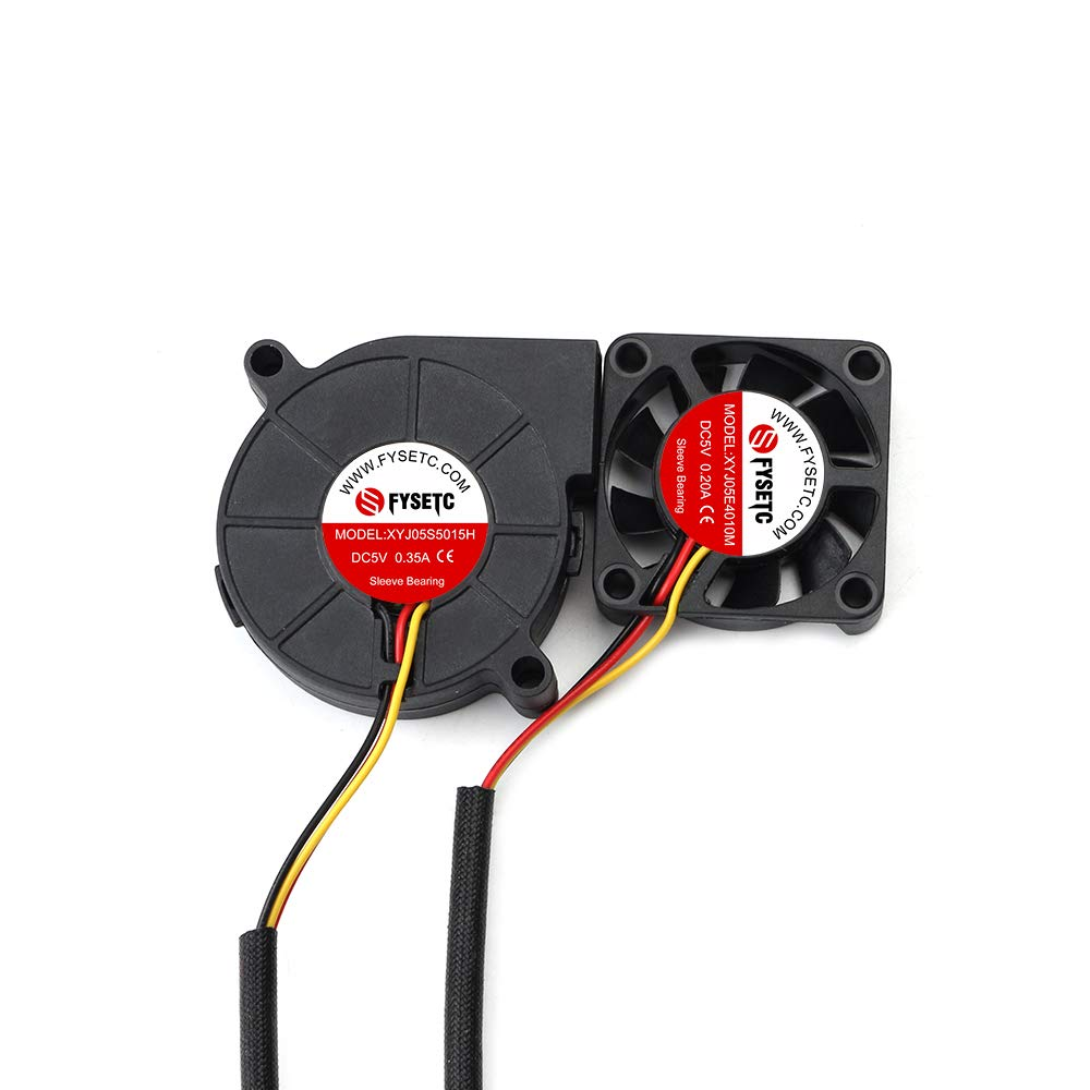 FYSETC Prusa i3 MK3 Cool Blower Fan Kit 4010 5015 DC 5V Extruder Hotend  Cooler Radiator for 3D Printer DIY Parts Accessories, 2Pack