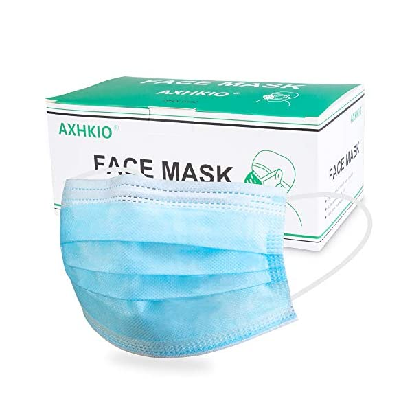 AXHKIO Disposable Face Masks 3 Layer Protection