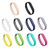 GinCoband 10PCS Fitbit Flex 2 Bands Replacement for Fitbit Flex 2 Wristband No Tracker