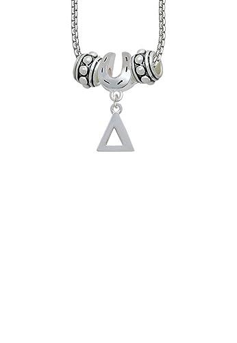 Amazon.com: Large Greek Letter   Delta   Horseshoe 3 Bead Necklace