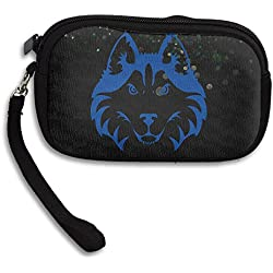 BakeOnion Women's Husky Face Zippered Change Purse Coin Pouch